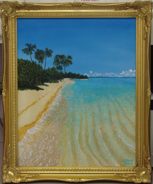 Armand beach 9  framed